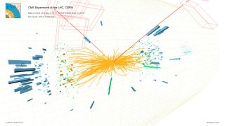 A Higgs boson candidate event at the LHC's CMS.