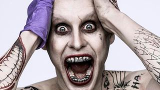 A promotional picture of Jared Leto's Joker character in the Suicide Squad movie