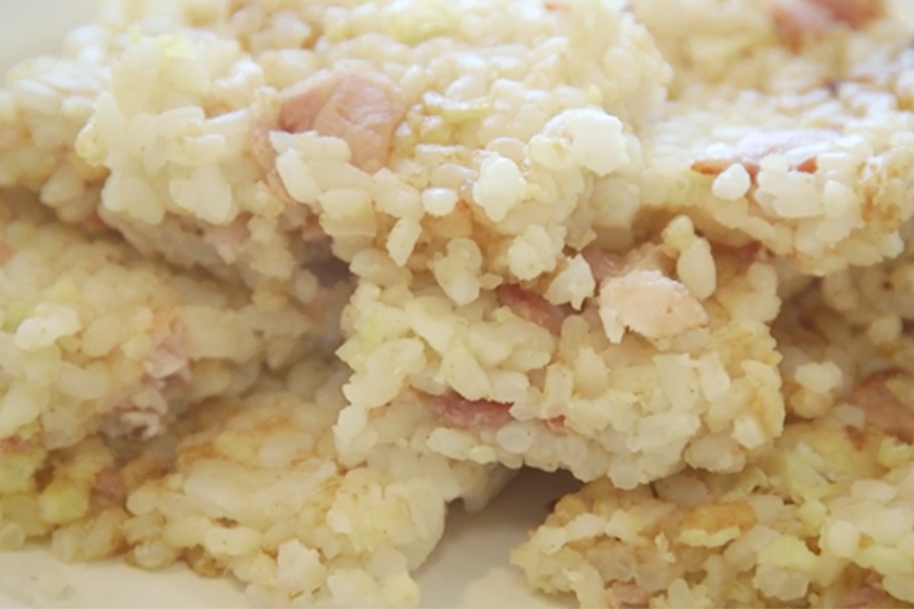 How to make bacon and egg rice cakes: a great cycling snack (video ...
