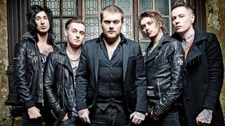 Asking Alexandria with Worsnop, centre