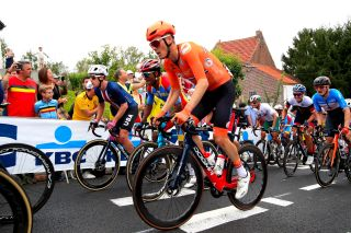 Dylan Van Baarle (Netherlands) in the elite men's road race at the UCI Road World Championships 2021