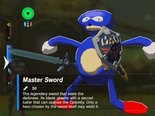 Sanic is now playable in emulated Zelda: Breath of the Wild