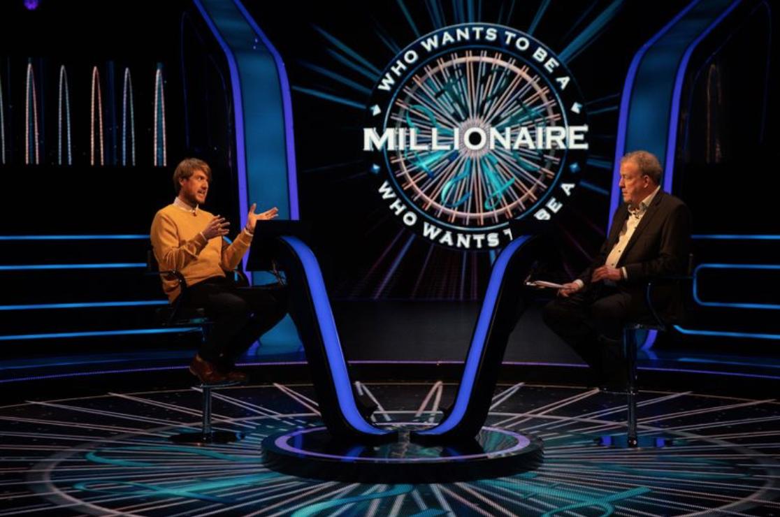 ¿Quién quiere ser millonario? Dan Huxley con Jeremy Clarkson