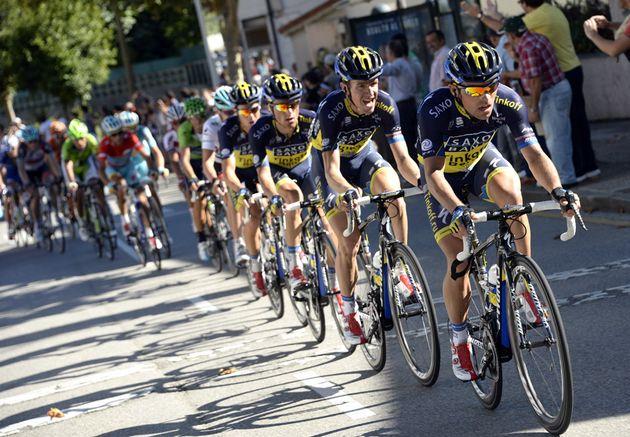 Saxo-Tinkoff chases, Vuelta a Espana 2013, stage 19