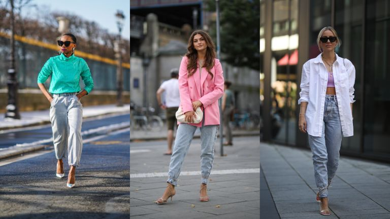 mom jean outfits: street style