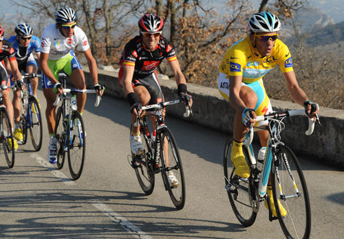 Alberto Contador and Alejandro Valverde, Paris-Nice 2010, stage five