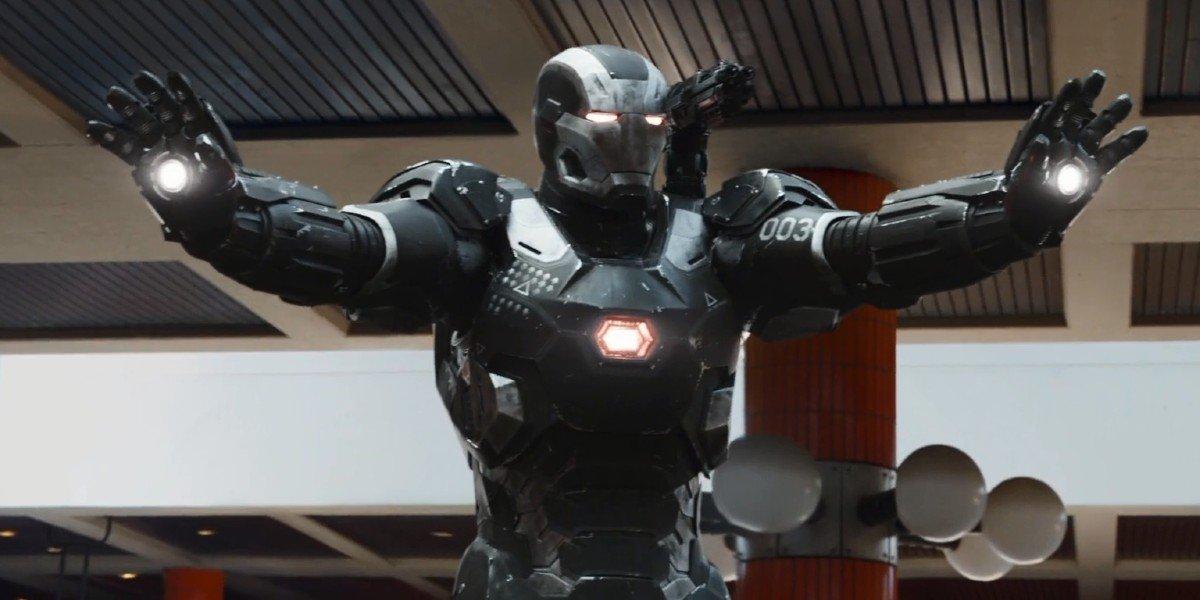 Rhodey arrives in Captain America: Civil War