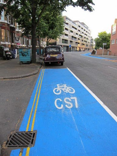 Interruption on the Cycling Superhighway