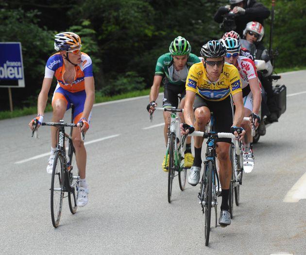 Bradley Wiggins and Robert Gesink, Criterium du Dauphine 2011, stage six