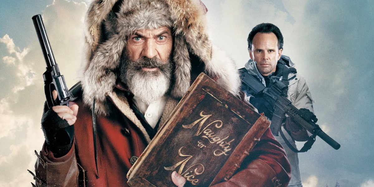 Fatman Mel Gibson and Walton Goggins packing heat in the snow