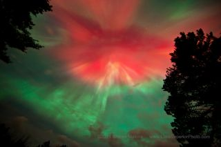 Photographer Shawn Malone of Marquette, Mich., took this dazzling photo of the spectacular Oct. 24, 2011 northern lights display.