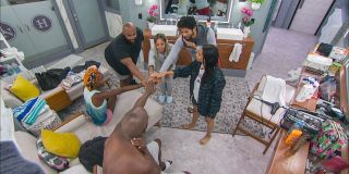 The Cookout doing their official alliance hands in moment Big Brother CBS