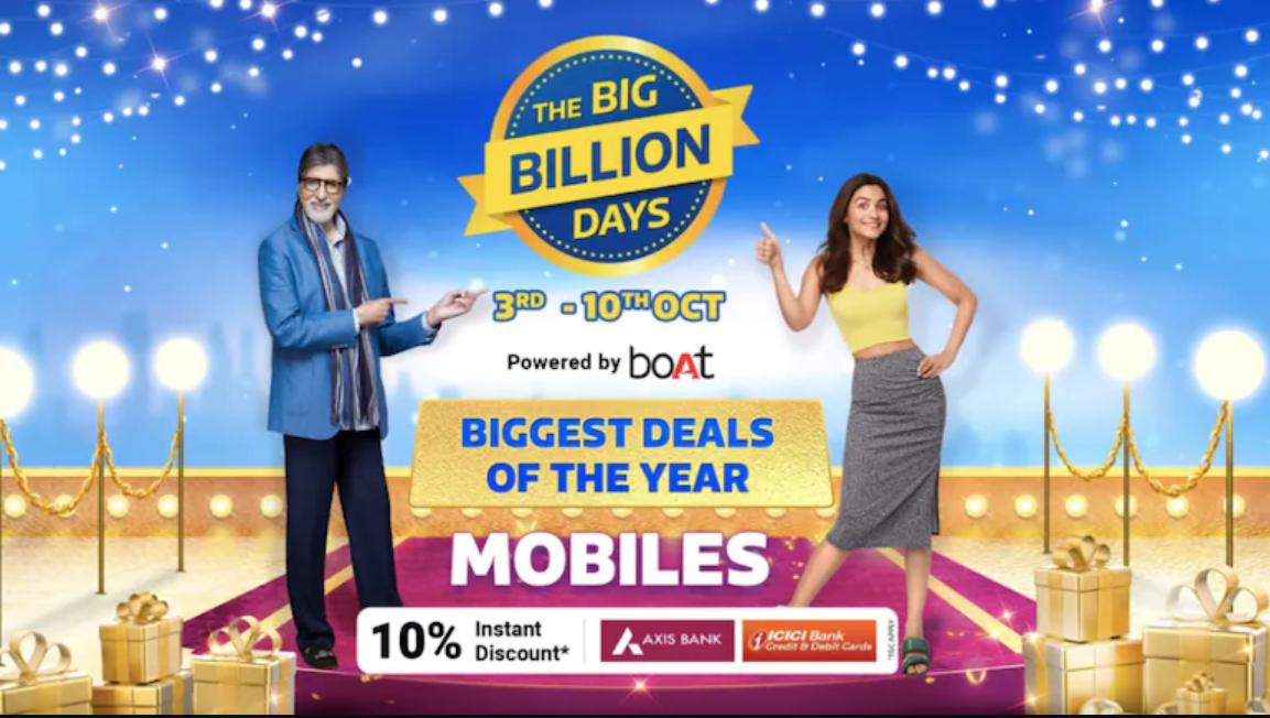 Flipkart Bill Billion Days sale is from Oct 3