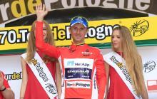 Bartosz Huzarski (NetApp-Endura) leads the sprint classification