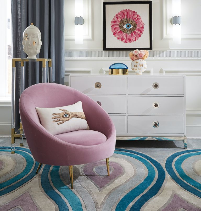 purple décor trend from Jonathan Adler
