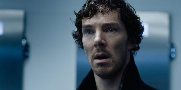 Sherlock Holmes shocked in Sherlock