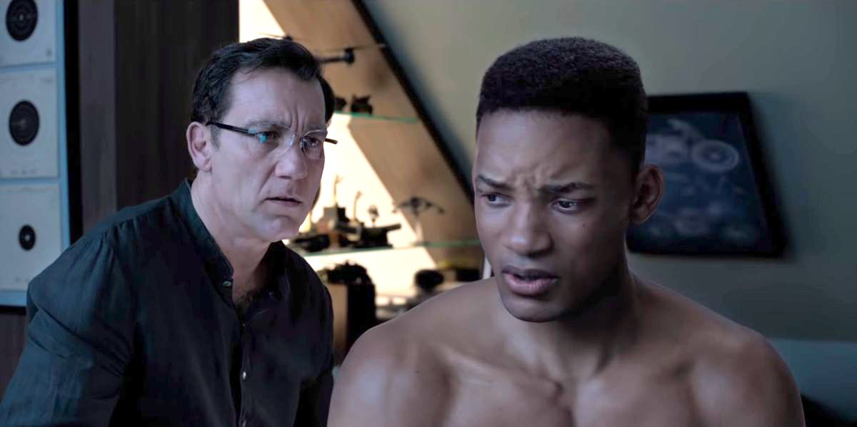 CGI Will Smith with Clive Owen in Gemini Man