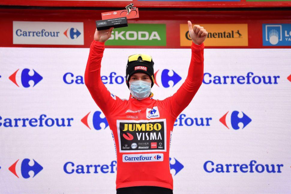 Primož Roglič (Jumbo-Visma) retained his overall lead after stage 14 of the 2020 Vuelta a España