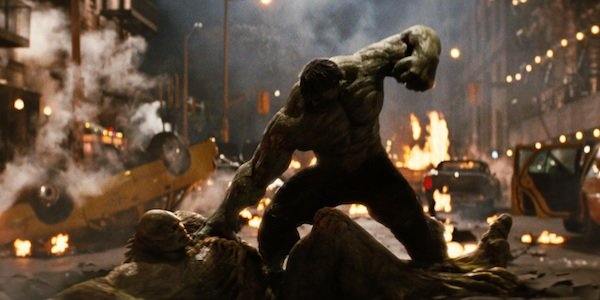 Hulk punching the Abomination
