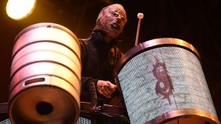 Tortilla Man onstage with Slipknot