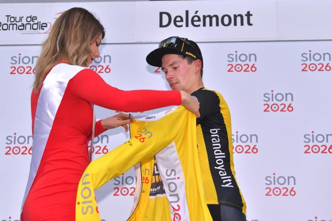 Primoz Roglic (LottoNL-Jumbo) in yellow after stage 1 at Romandie