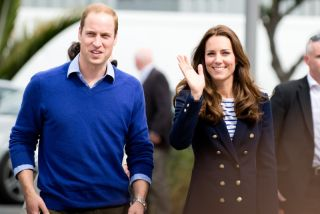 Prince William and Kate Middleton visit Auckland's Viaduct Harbor during their New Zealand tour on April 11, 2014.