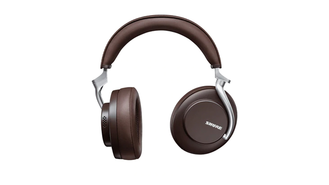 the shure aonic50 wireless headphones in dark brown