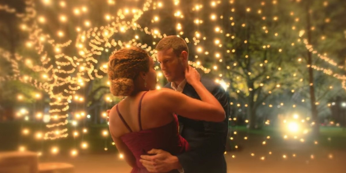 Tom Hopper and Emmy Raver-Lampman as Luther and Allison in Umbrella Academy