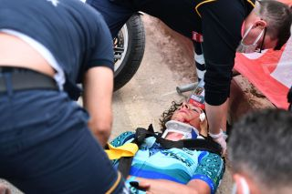 American not seriously injured in pile-up reminiscent of Dutch rider's Tour de Pologne incident