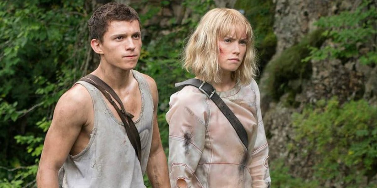 Tom Holland and Daisy Ridley on set of Chaos Walking