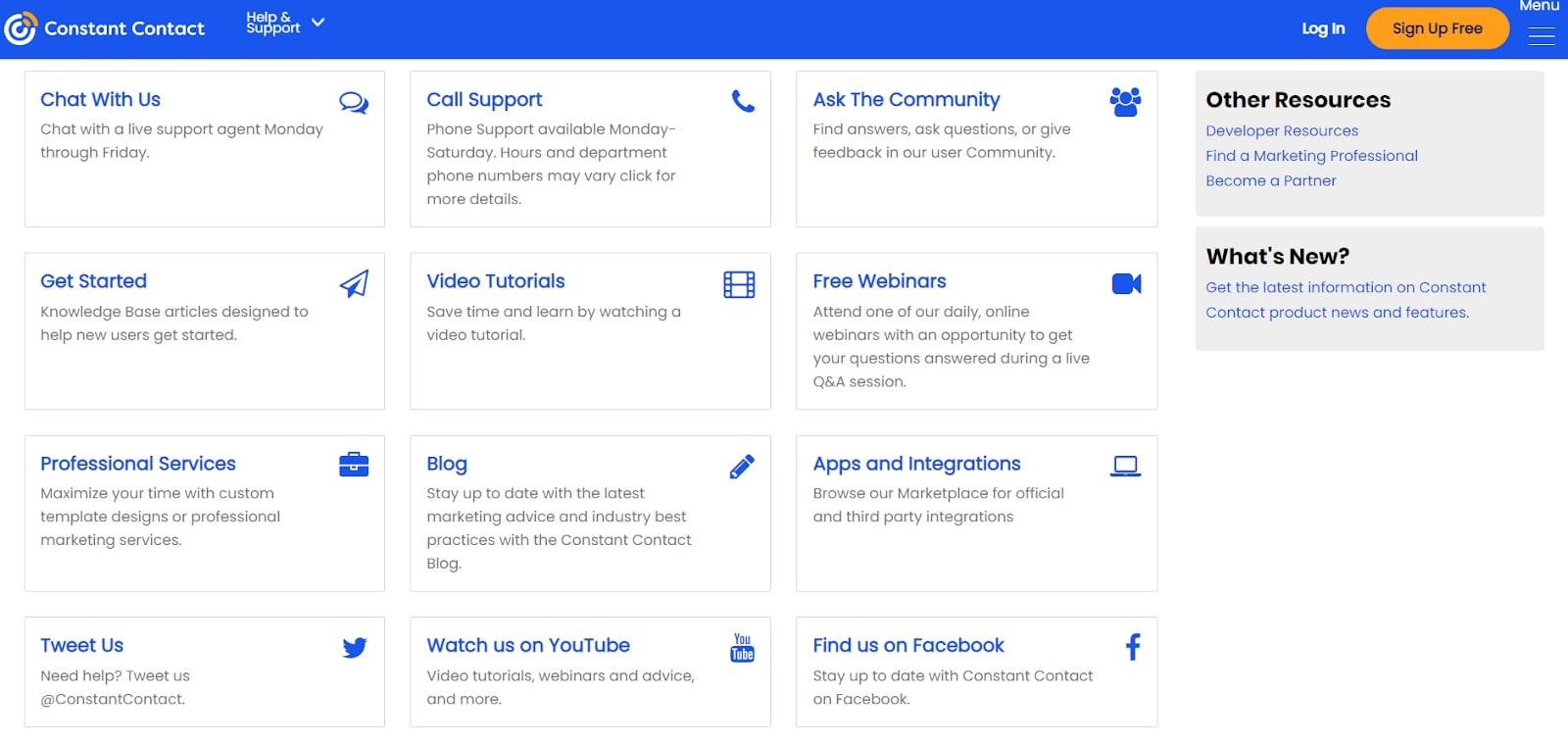 Constant Contact website builder review