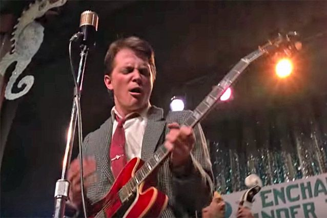 marty mcfly s 39 back to the future 39 gibson es 345 was actually from the future guitarworld. Black Bedroom Furniture Sets. Home Design Ideas