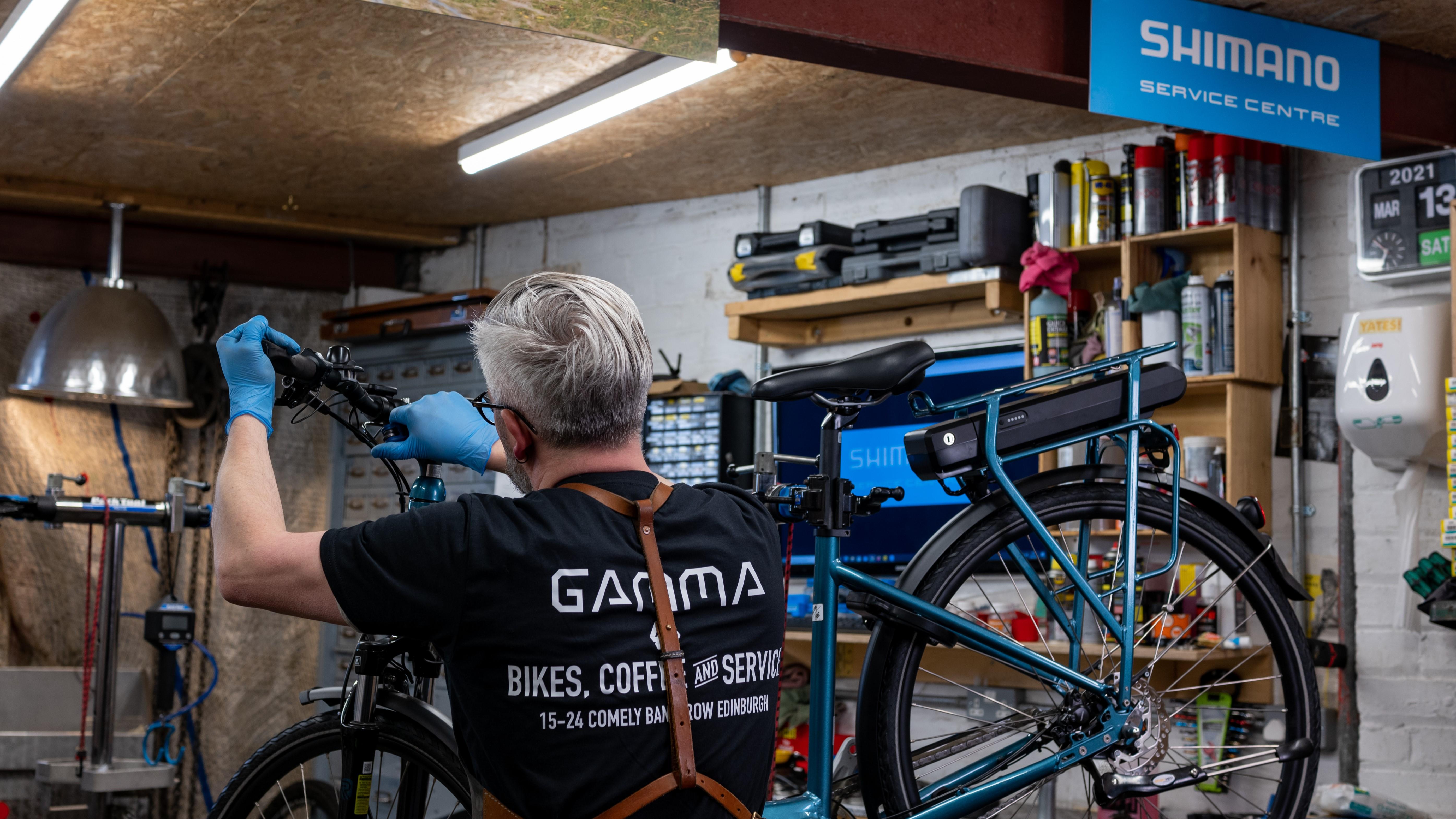 Gavin Brough, Gamma Transfer Division Shimano Service Center