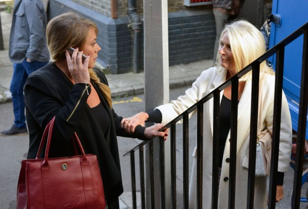 Sharon and Margaret exchange words in EastEnders