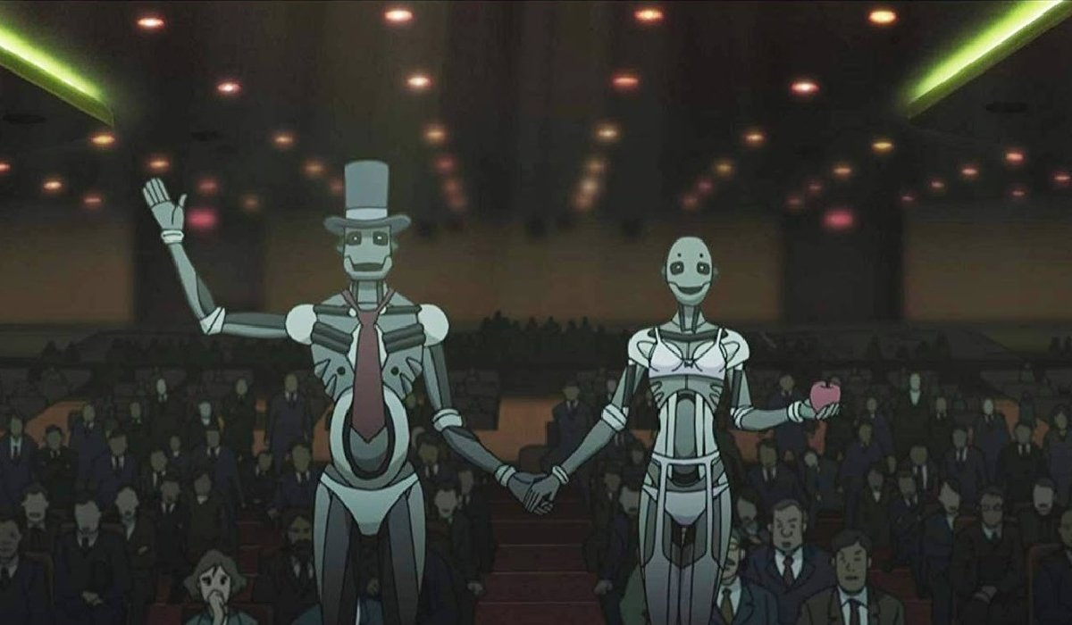 The Animatrix robotic ambassadors visiting the UN