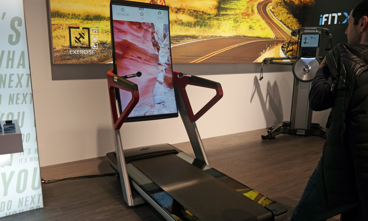 iFit Treadmill's Giant OLED Screen Lets You Run Anywhere   Tom's Guide