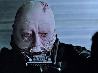 "The character of Darth Vader in ""Return of the Jedi."""