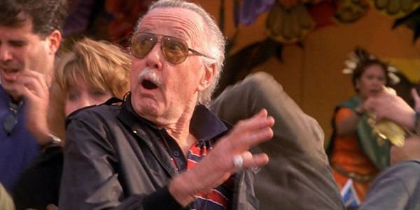 Stan Lee looking surprised in Spider-Man movie
