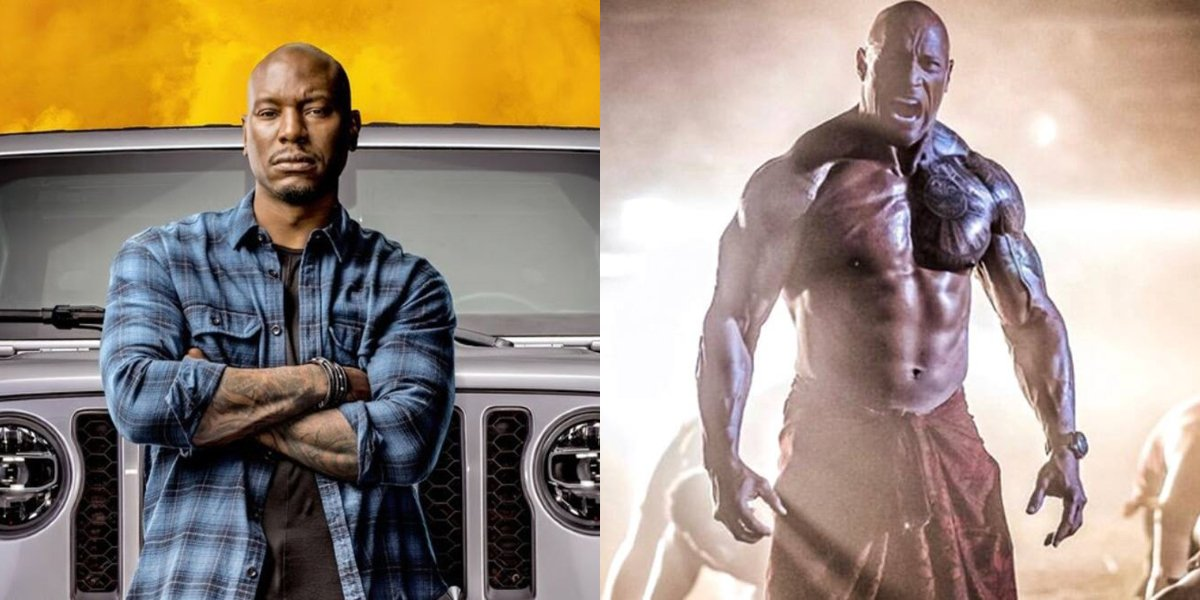 Tyrese Gibson and Dwayne Johnson side by side