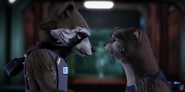 Rocket and Iylla in the Guardians game