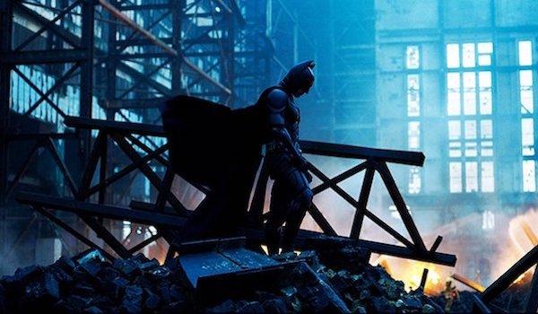Batman standing solemnly in The Dark Knight