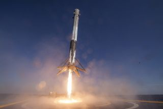 Falcon 9 Rocket Lands on Drone Ship