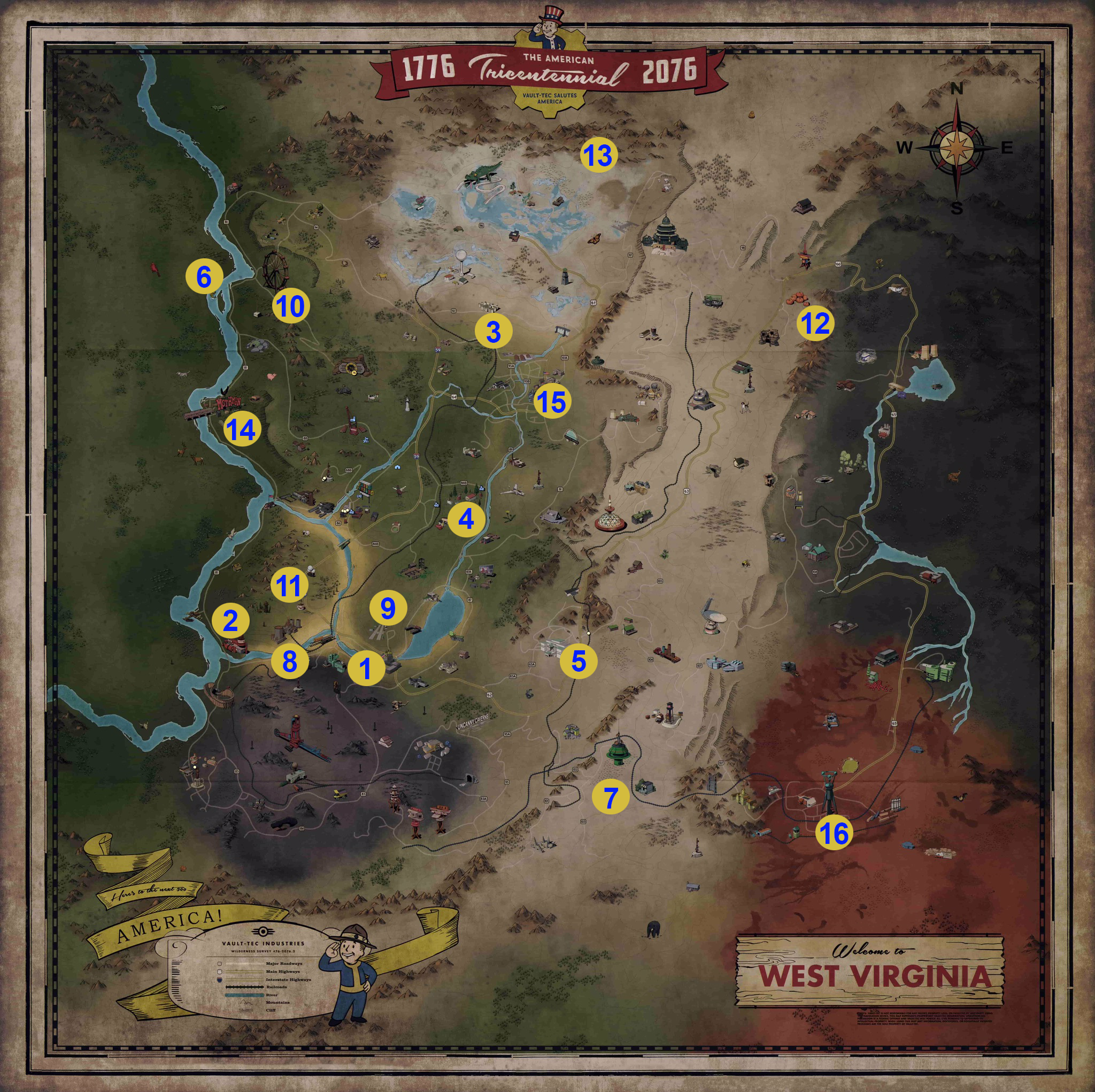 Fallout 76 locations | PC Gamer