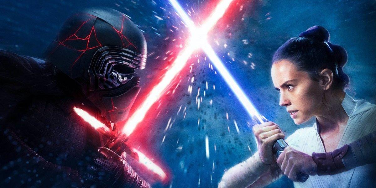 Star Wars: Rise of Skywalker Kylo Ren and Rey lightsaber dueling