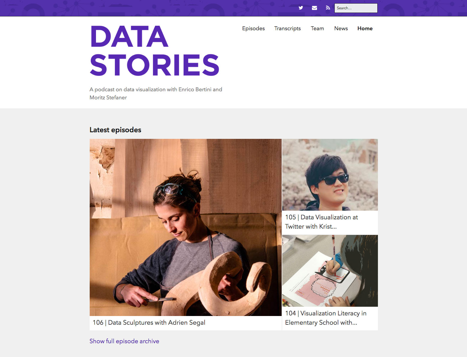 Web design podcasts: Data Stories