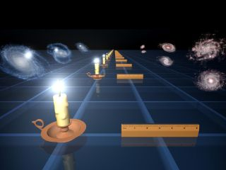 standard candle illustration universe expansion