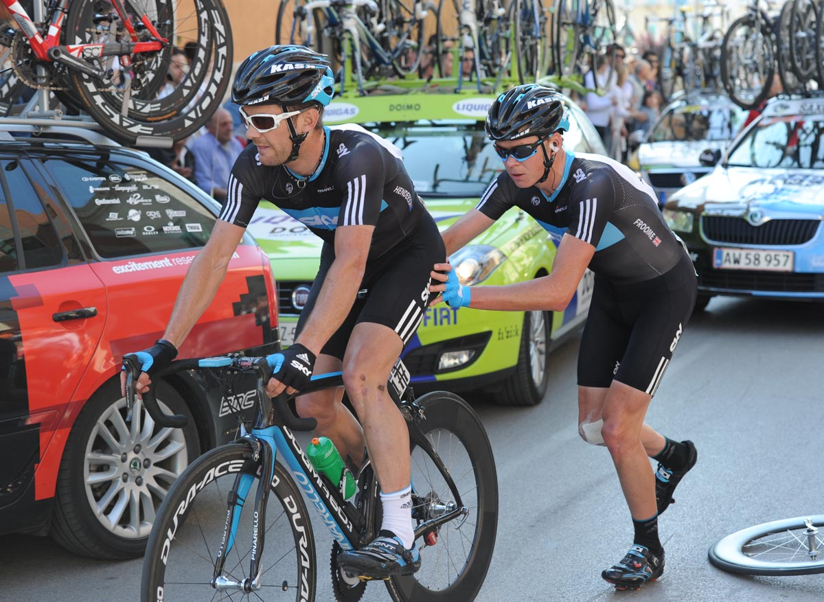 Greg Henderson and Chris Froome, Giro d'Italia 2010, stage 10