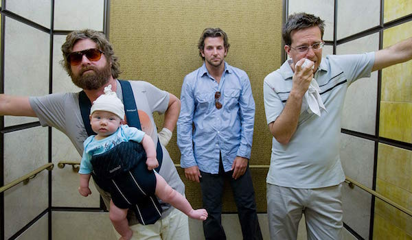 Zach Galifianakis, Bradley Cooper and Ed Helms in The Hangover