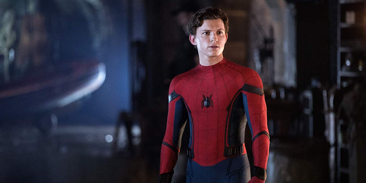 Tom Holland as Spider-Man in Far From Home