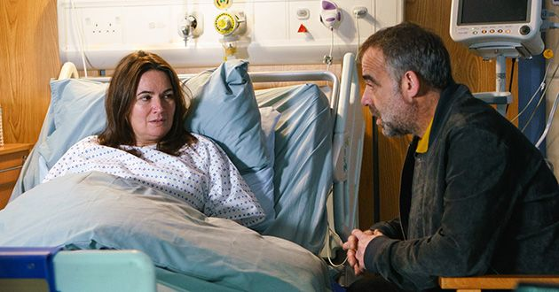 Kevin Webster visits Anna Windass in Coronation Street.